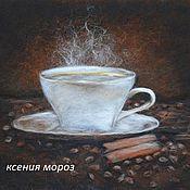 """Картины и панно ручной работы. Ярмарка Мастеров - ручная работа """"Кофе с шоколадом"""". Handmade."""