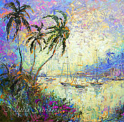 Картины и панно handmade. Livemaster - original item The picture yacht 50h70