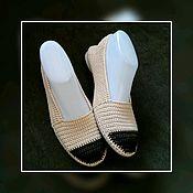 Обувь ручной работы handmade. Livemaster - original item work on the order. shoes knitted. Shoes knitted.. Handmade.
