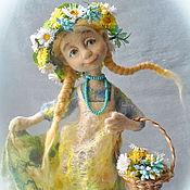 """Куклы и игрушки ручной работы. Ярмарка Мастеров - ручная работа Войлочная кукла """"Полевые цветы"""". Handmade."""