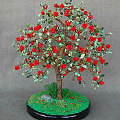 handmade. Livemaster - original item Tree of Australian jade and red coral