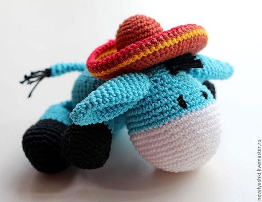 """Игрушки животные, ручной работы. Ярмарка Мастеров - ручная работа. Купить """"Ослик"""". Handmade. Голубой, ослик иа, игрушка в подарок"""