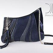 Сумки и аксессуары ручной работы. Ярмарка Мастеров - ручная работа в наличии сумочка-спутник темно синий. Handmade.