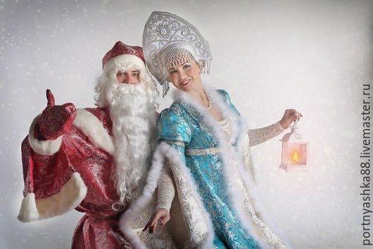 Карнавальные костюмы ручной работы. Ярмарка Мастеров - ручная работа. Купить Дед Мороз и Снегурочка. Handmade. Разноцветный, карнавальные костюмы