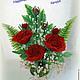 Цветы ручной работы. Ярмарка Мастеров - ручная работа. Купить розы из бисера. Handmade. Роза ручной работы, розочки