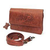 Сумки и аксессуары handmade. Livemaster - original item Crossbody bag: Leather women`s brown Devi S74-602 bag. Handmade.