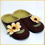 """Обувь ручной работы. Ярмарка Мастеров - ручная работа Тапочки """"Осень"""". Handmade."""