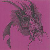 Картины и панно ручной работы. Ярмарка Мастеров - ручная работа Пурпурный дракон. Handmade.