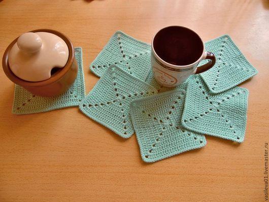 """Кухня ручной работы. Ярмарка Мастеров - ручная работа. Купить Чайный набор """"Мята"""". Handmade. Мятный цвет, готовая работа"""
