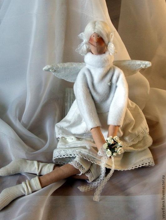 Куклы Тильды ручной работы. Ярмарка Мастеров - ручная работа. Купить Ангел в белом 2. Handmade. Белый, рождество