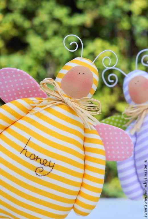 Куклы Тильды ручной работы. Ярмарка Мастеров - ручная работа. Купить Пчелки. Handmade. Желтый, пчела, для дома, хлопок