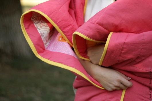 """Текстиль, ковры ручной работы. Ярмарка Мастеров - ручная работа. Купить Лоскутное покрывало """"Сладкий зефир"""". Handmade. Персик, покрывало"""