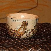 """Посуда ручной работы. Ярмарка Мастеров - ручная работа Пиалы чайные """"Хворост"""". Handmade."""