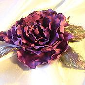 """Украшения ручной работы. Ярмарка Мастеров - ручная работа Цветок-брошь из ткани: роза """"Rандеву"""". Handmade."""