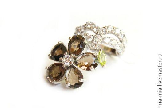Кольца ручной работы. Ярмарка Мастеров - ручная работа. Купить кольцо Каменный цветок. Handmade. Коричневый, кольцо с раухтопазом