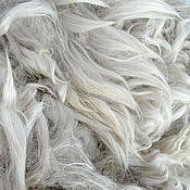 Материалы для творчества handmade. Livemaster - original item Alpaca Suri white. Handmade.