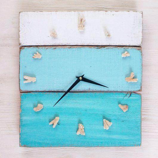 Часы для дома ручной работы. Ярмарка Мастеров - ручная работа. Купить Часы из даров моря. Handmade. Море, анапа, часы