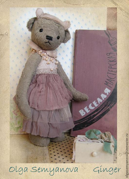 Мишки Тедди ручной работы. Ярмарка Мастеров - ручная работа. Купить Джинджер (имбирь). Handmade. Бледно-розовый, подарок на новый год