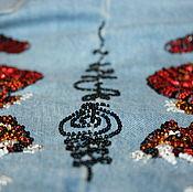 Джинсы ручной работы. Ярмарка Мастеров - ручная работа Джинсы с вышивкой. Handmade.