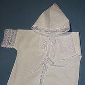 Работы для детей, handmade. Livemaster - original item Baptismal shirt with a hood. Handmade.