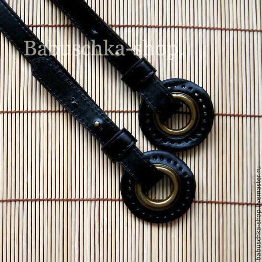 Другие виды рукоделия ручной работы. Ярмарка Мастеров - ручная работа. Купить Ручки для сумок с кольцами 50см. Черный. Handmade.