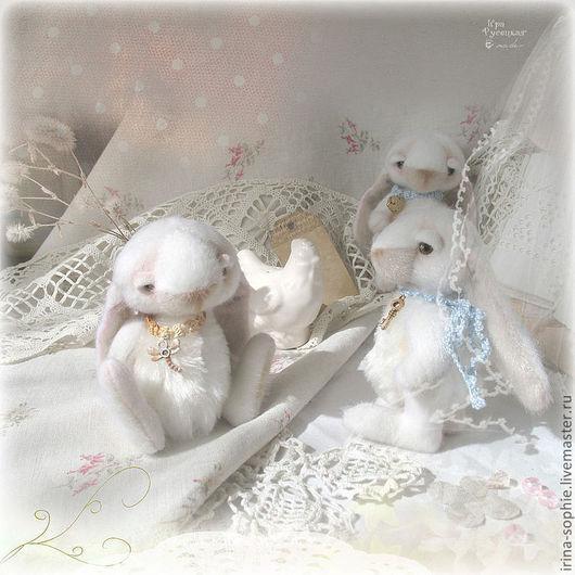 Мишки Тедди ручной работы. Ярмарка Мастеров - ручная работа. Купить Нежные зайчики. Коллекция Шебби Шик. Игрушки. Handmade.