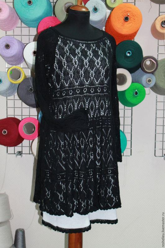 Платья ручной работы. Ярмарка Мастеров - ручная работа. Купить Платье вязаное №43 из 100% итальянского хлопка. Handmade.
