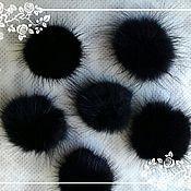 Материалы для творчества handmade. Livemaster - original item the fur of mink POM-POM. Handmade.