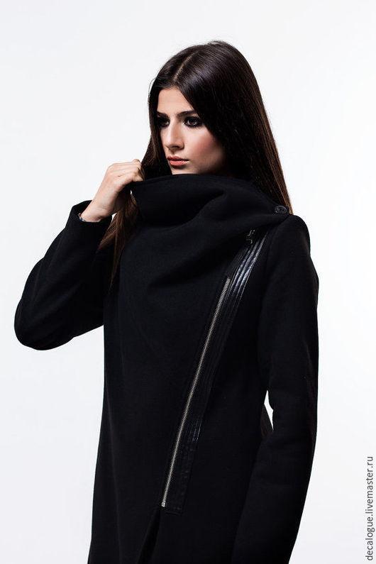 Верхняя одежда ручной работы. Ярмарка Мастеров - ручная работа. Купить Ультрамодное  пальто. Handmade. Черный, кашемировое пальто, оригинальный