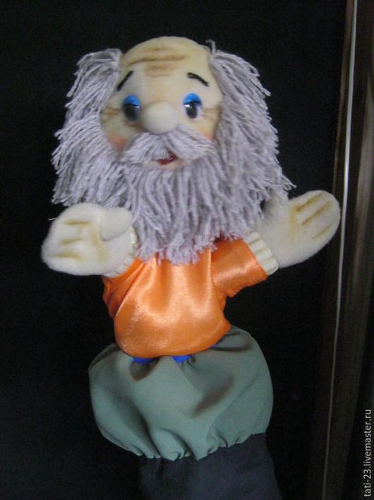Кукольный театр ручной работы. Ярмарка Мастеров - ручная работа. Купить Дед. Перчаточная кукла.. Handmade. Разноцветный, флис