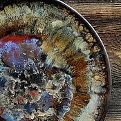 "Посуда handmade. Livemaster - original item Porcelain plate ""Mokko"". Handmade."