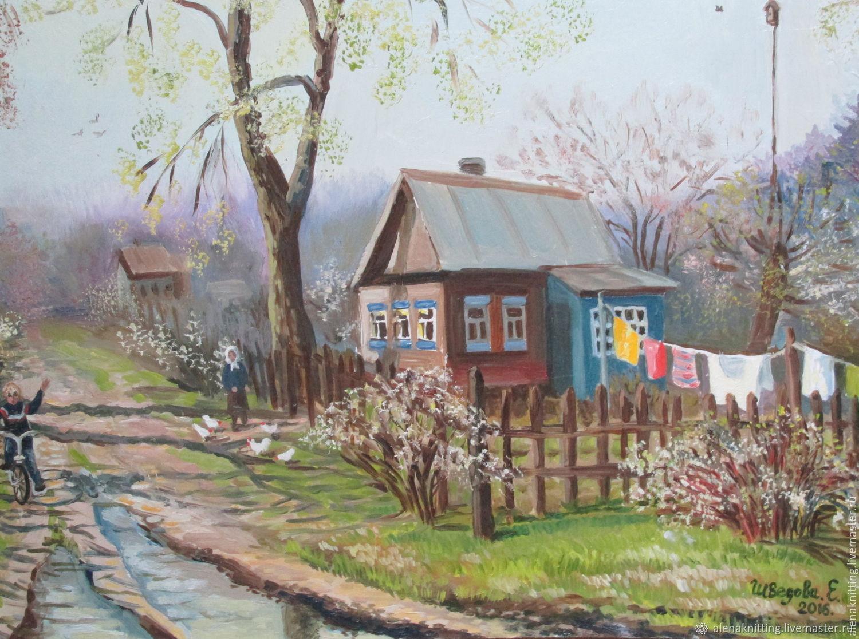 картинки с изображением весны в деревне полках расставляют