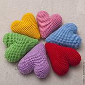 Куклы и игрушки ручной работы. Ярмарка Мастеров - ручная работа Сердце вязаное шерстяное. Handmade.