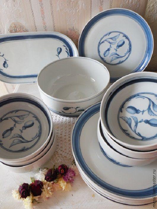 Винтажная посуда. Ярмарка Мастеров - ручная работа. Купить Винтаж: Сервиз датский столовый на 6 персон, Копенгаген, Bing-Grondahl. Handmade.