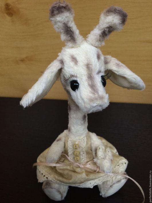 Игрушки животные, ручной работы. Ярмарка Мастеров - ручная работа. Купить Жирафушка. Handmade. Бежевый, handmade, холофайбер