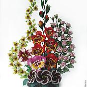 Цветы и флористика ручной работы. Ярмарка Мастеров - ручная работа Бисерная композиция  Жизнь Прекрасна. Handmade.