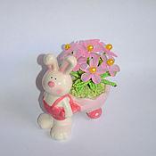 Цветы и флористика ручной работы. Ярмарка Мастеров - ручная работа Цветочный зайка. Handmade.