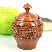 Для дома и интерьера handmade. Livemaster - original item Carved wooden Bank, pot, rustic style. Handmade.