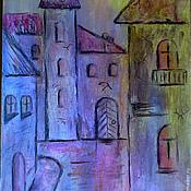 """Картины и панно ручной работы. Ярмарка Мастеров - ручная работа Картина """"Старая улочка"""". Handmade."""
