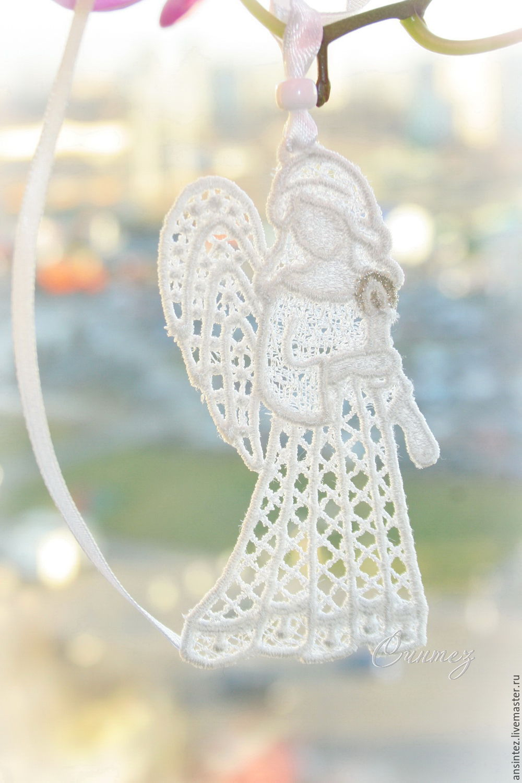 Мой Ангел 10штук интерьерная Вышитая подвеска для модуля на кроватку, Подвески, Москва,  Фото №1