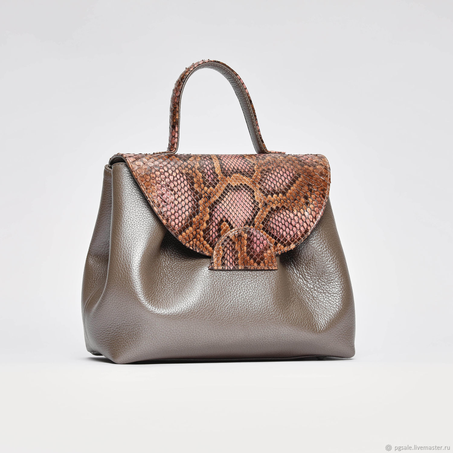 Genuine leather and Python bag, Classic Bag, St. Petersburg,  Фото №1