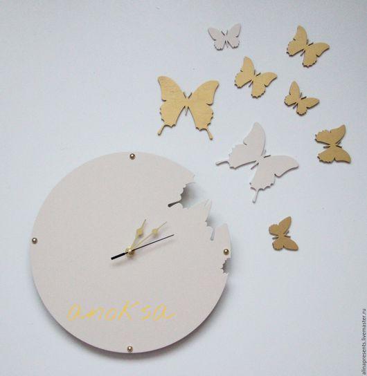 Часы для дома ручной работы. Ярмарка Мастеров - ручная работа. Купить Часы интерьерные. Handmade. Бежевый, часы настенные