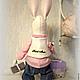 Куклы Тильды ручной работы. Заяц Стёпа Поздравлялкин. Тильда зайчик.. Юлия. Ярмарка Мастеров. Кролик ТИЛЬДА