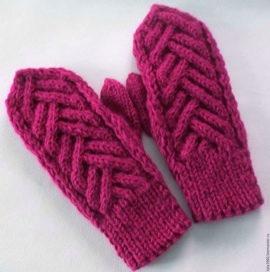 Варежки, митенки, перчатки ручной работы. Ярмарка Мастеров - ручная работа. Купить Варежки к зиме. Handmade. Ярко-красный