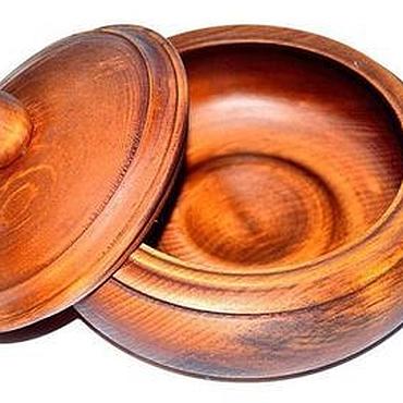 Посуда ручной работы. Ярмарка Мастеров - ручная работа Кубышка из Сибирского Кедра - посуда из дерева для кухни #K2. Handmade.