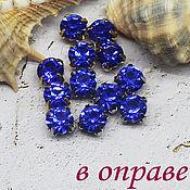 Материалы для творчества handmade. Livemaster - original item Rhinestones 6 mm Cobalt. Handmade.