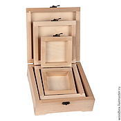 Материалы для творчества handmade. Livemaster - original item MK18187 Boxes matryoshka blanks for decoupage, for painting. Handmade.