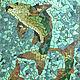 """Животные ручной работы. Ярмарка Мастеров - ручная работа. Купить Мозаика """"Византийская китайка"""". Handmade. Синий, голубой, китайская живопись"""
