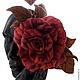 Цветы ручной работы. Заказать Крупная бархатная роза. Анастасия Георгенсон Silk Flowers. Ярмарка Мастеров. Бархат, заколка для волос