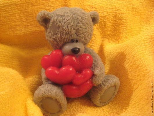 """Мыло ручной работы. Ярмарка Мастеров - ручная работа. Купить Мыло """"Тедди с сердечками"""". Handmade. Мыло ручной работы"""
